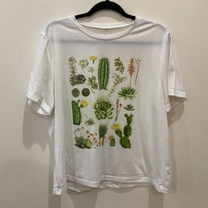 Shein cactus collage tee